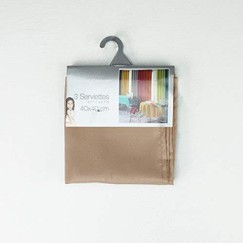 douceur d'intérieur 3 serviettes de table 40x40 cm essentiel lin