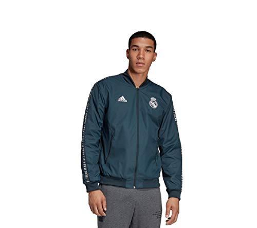 adidas Real Madrid Anthem Jacket Jacke (L, grau)