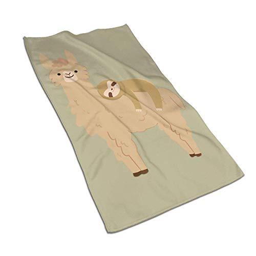 VimcustomPr Juego de toallas de mano de algodón egipcio de 40 x 70 cm, con diseño de perezoso