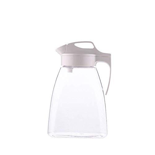 SBDLXY Jarra de Jugo frío para el hogar, Tarro de plástico para Bebidas con Sello de Alta Capacidad para el hogar, Jarra de Agua para Jugo de Leche, té Helado, Limonada, Agua-2.5L