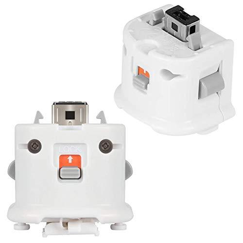 2 Piezas Wii Motion Plus Adaptador de Control Remoto Acelerador para Mando...