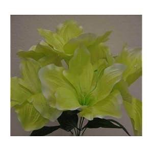 Artificial Silk Flowers Green Amaryllis Artificial Silk Flowers 16″ Bouquet Get 2 Bushes MG019