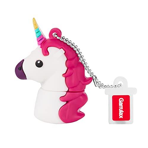 Garrulax Pendrive, USB Chiavette 8GB / 16GB / 32GB Premium Impermeabile Cute Animale in silicone ad alta velocità USB 2.0 dati, unità di memoria flash Penna Disk Pen Drive (64GB,Unicorn Horse)