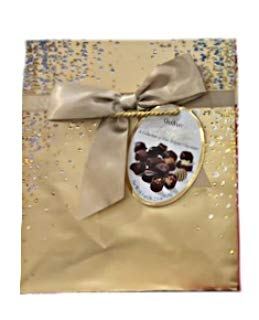 Gudrun Collection of Fine Belgian Premium Assorted Chocolates in Champagne Gift Box - 18.3 oz.
