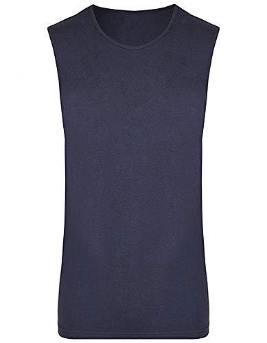 Herren Tanktop Tank Top Muskelshirt Baumwolle Sommer T-Shirt ärmellos in Navy Größe: 3XL