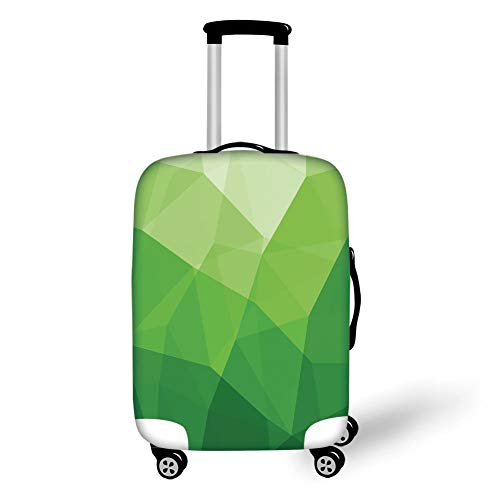 Reizen Bagage Cover Koffer Beschermer, Rowan, Aquarel Schilderij Stijl Leuke Wilde Vogel op Tak met Bessen Kunstwerk, Aarde Geel Rood Zwart, voor Reizen