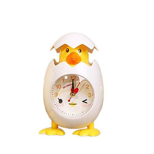 TrifyCore Mode Wecker Nette Karikatur-Huhn-Ei Shell Wecker Desktop Clock Wecker für Kinder Geschenk-Hauptdekor-Weiß