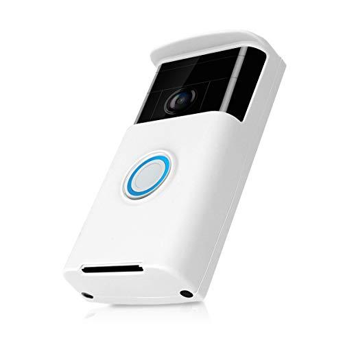 kwmobile Ring Video Doorbell (1. Gen) Funda Protectora para videoportero de Silicona Compatible con Ring Video Doorbell (1. Gen) - Blanco