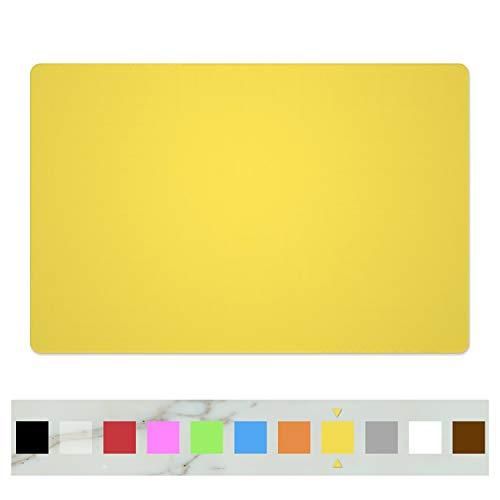 SiliconePlacematsFood-GradeNon-SlipWaterproofDiningStainResistantCountertopProtectorKitchenCounterMatHeatResistantBakingmat DishwasherSafe 236×157-1pack Yellow