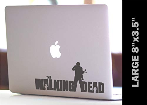 Auto Aufkleber The Walking Dead Daryl mit Armbrust Custom Decal 20X8.75Cm