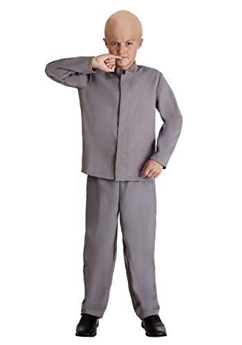 Kids Evil Mini Man Grey Suit Costume X-Large