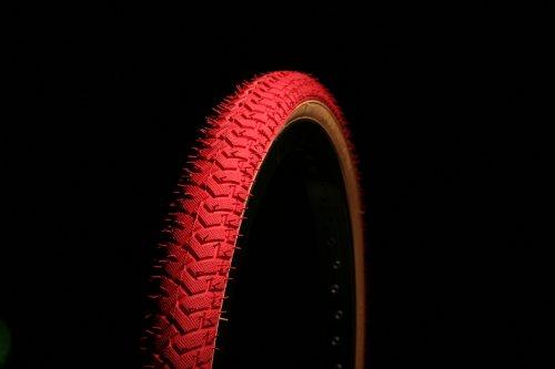 BMX Reifen 20x 2.125LS214Curio UK Rot mit Wand aus Gummi, Faden Rampe Street