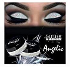 Angelic GlitterWarehouse White Irredescent Loose Glitter Powder Great for Eyeshadow/Eye Shadow, Makeup, Body Tattoo, Nail Art and More!