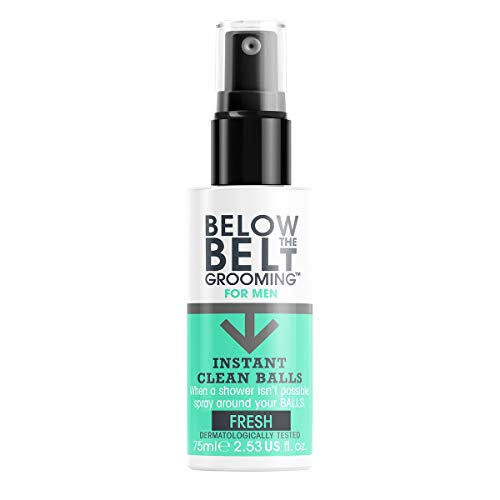 Below The Belt Grooming Instant Clean Balls - Ideal for Sports, Gym, Festivals & Travel - Oceanic Fresh Fragrence 75ml