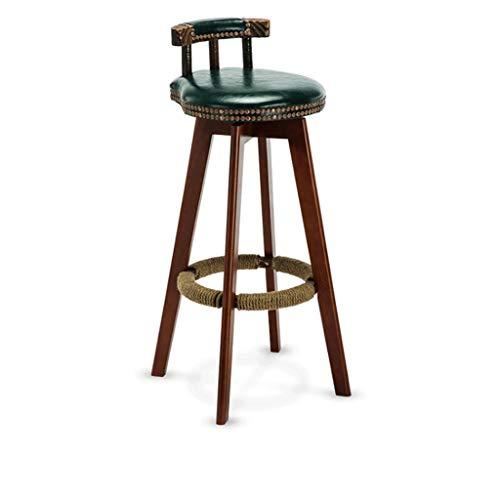 LJBXDCZ NJ barkruk barkruk Home High kruk Nordic barkruk draaistoel barkruk massief houten stoel bruin, donkergroen, groen blauw