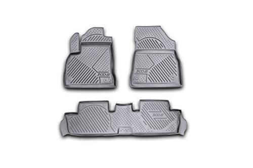 Element EXP.CARPGT00023 Tapis de Sol en Caoutchouc antidérapant pour Peugeot 3008 09-16, Noir, Ajustement mesuré au Laser personnalisé