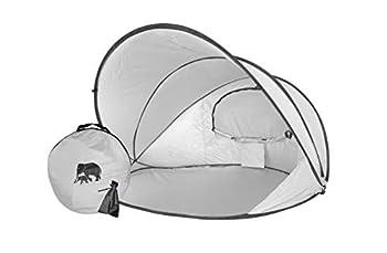 Deryan Pop Up Beach Tent XXL - Argent - 2-3 personnes - Protection solaire et coupe-vent - Facile à installer et à emporter
