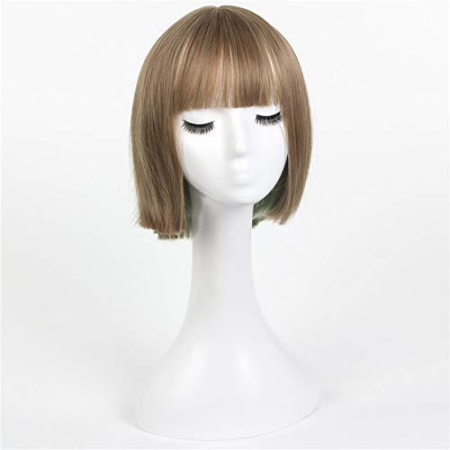 Juego de Tokio Sinoalice Hansel Gretel Cosplay peluca mujer pelo corto liso de lino Lolita pelo fiesta de Halloween Anime disfraz pelucas