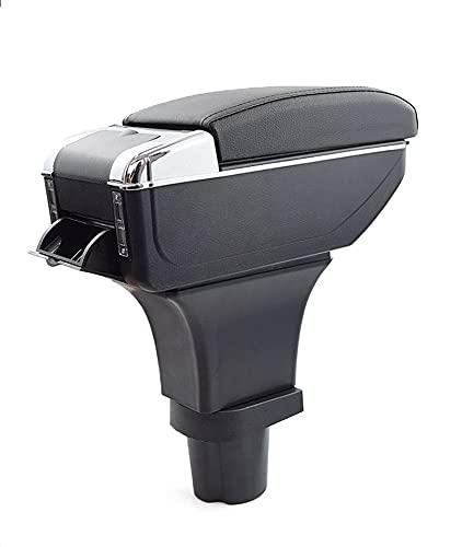 Bracciolo Auto Compatibile Con Mini Cooper 2006-2010 Console Centrale In Pelle Nero Posacenere Poggiabraccio Vano Portaoggetti