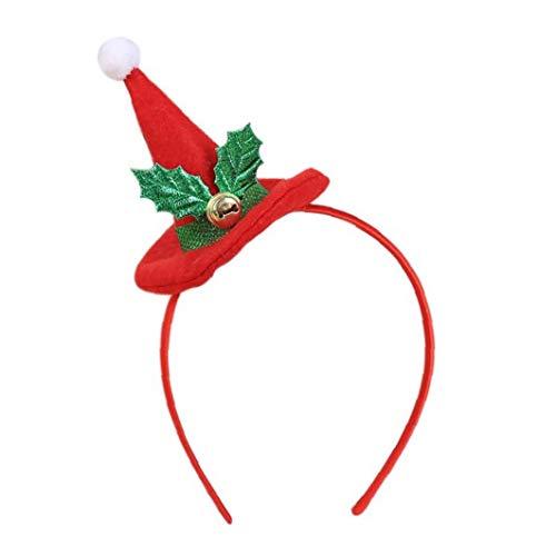 Odoukey Cinta de Cabeza de Navidad Sombrero de Papá Noel niños Venda del Partido de Navidad Hairband Hairband de Navidad Decoración Diadema de Vacaciones Puntales