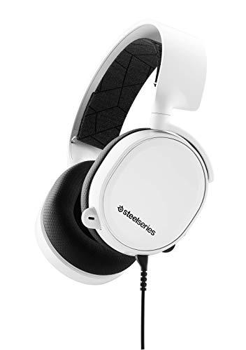 SteelSeries – Fone de ouvido para jogos All-Platform – para PC, PlayStation 4, Xbox One, Nintendo Switch, VR, Android e iOS, Arctis 3, Branco, Arctis 3