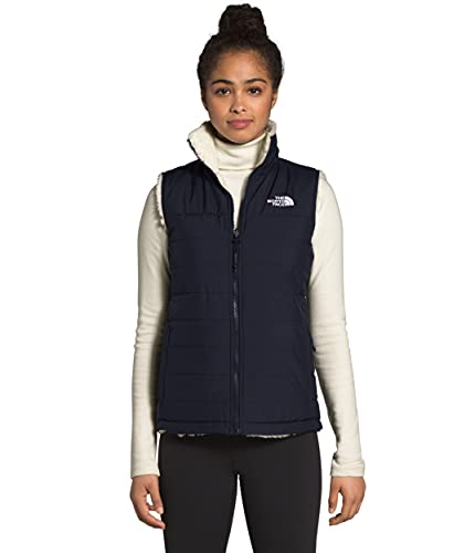 The North Face Women's Mossbud Insulated Reversible Vest, Aviator Navy/Vintage White, M