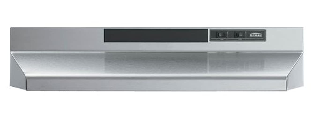 Broan F402404 Two-Speed Four-Way Convertible Range Hood, 24-Inch, Stainless Steel