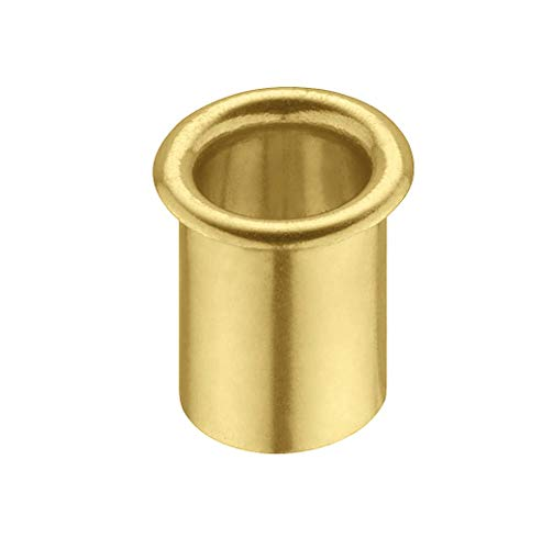 Gedotec Messing Lüftungsring rund Kabeldurchführung Schreibtisch - LION | Kabeldurchlass Messing poliert | Kabeldose Bohr-Ø 12 mm | Kabelführung zum Eindrücken | 1 Stück - Ring-Durchlass für Möbel