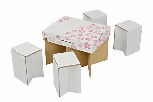 付加価値創造合同会社 どこでもイース 白地に桜柄 「お花見4人席」 プレミアム