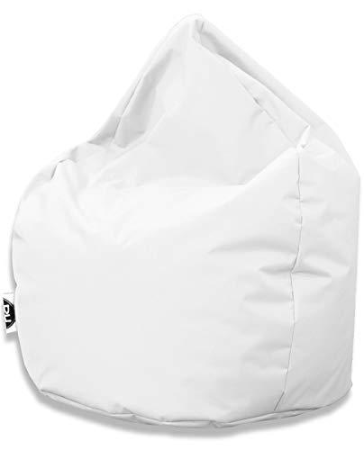 Patchhome Sitzsack Tropfenform - Weiß für In & Outdoor XXXL 480 Liter - mit Styropor Füllung in 25 versch. Farben und 3 Größen
