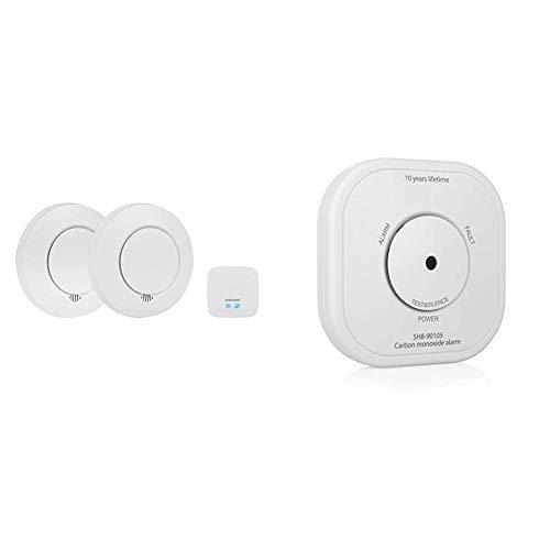 Smartwares Smart Security SH8-99103 Rauchmelder Smartwares Rauchwarnmelder PRO Series – Intelligentes Rauchdetektor-Set + Smart Home Pro Kohlenmonoxid-Melder/Co Melder - Smartphone-Benachrichtigung