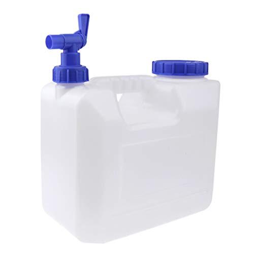 perfeclan Recipiente de Agua Portátil de 10 litros con Grifo, Bidón de Agua para Acampar, Senderismo, Escalada Y Viajes Al Aire Libre - Transparente