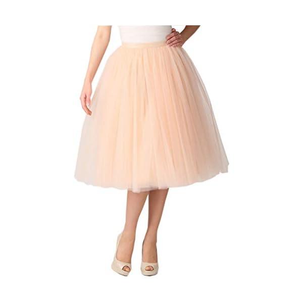 Acecharming Womens 1950s Vintage Tutu Ballet Bubble Dance Skirt Tulle Petticoat for Big Girl