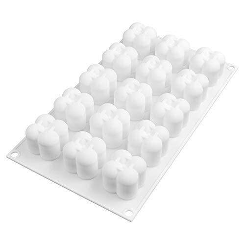 Moldes de silicona de 15 cavidades para chocolate, fondant, molde antiadherente para tartas, magdalenas, cubitos de hielo para bodas