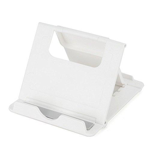 Cuasting Soporte para tableta con vista multiángulo, portátil y ajustable, color blanco