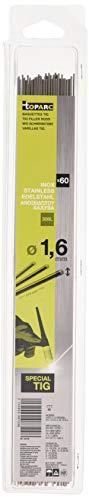 Abratools 087248 - Varillas TIG, Inoxidable, Diámetro 1.6mm, 308L, Juego de 60