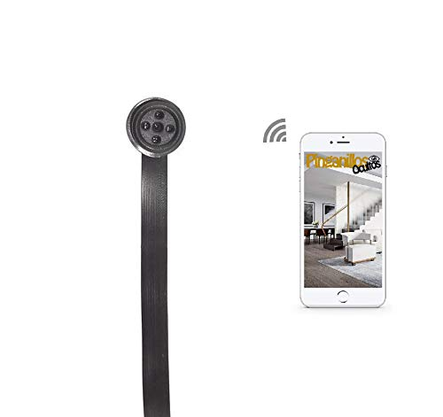 Botón cámara espía WiFi de Pinganillosocultos. Calidad HD 1080p Real. Ideal para Espionaje o exámenes (Folios A4)