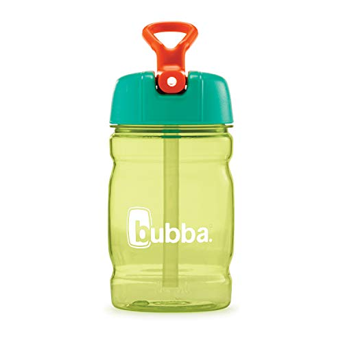 bubba Hero Sport Kids Insulated Stainless Steel Water Bottle with Flip-Up Straw, 12 oz, Sour Apple/Mandarin