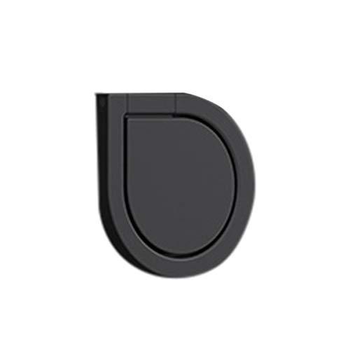 Soporte de agarre de anillo de desmagnetización de gota de agua de metal Soporte de teléfono giratorio universal de 360 ° Mini soporte de anillo de dedo para teléfonos inteligentes - Negro