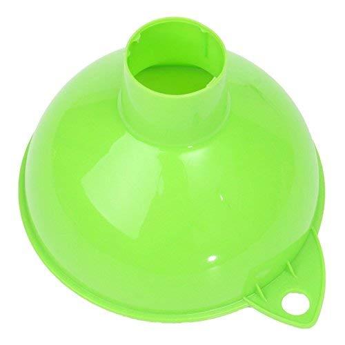 Uteruik Embudo de plástico boca ancha vino gran herramienta de llenado enlatado aceite líquido mermelada de agua hogar gasolina hogar cocina barware, 1 unids