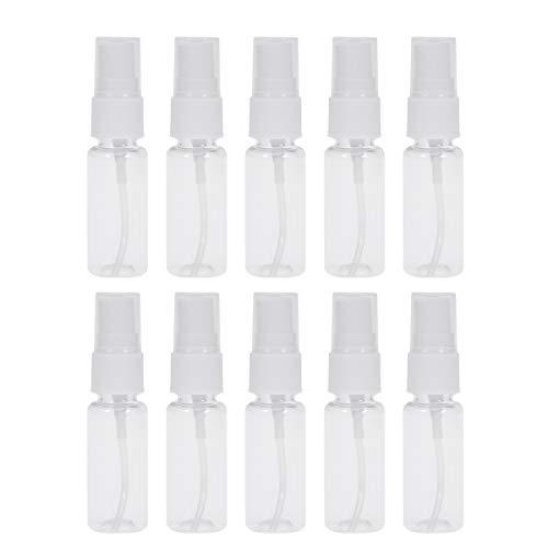 Abaodam 10 unids 20 ml portátil mini botella de plástico vacío pequeña para maquillaje y cuidado de la piel recargable viaje uso
