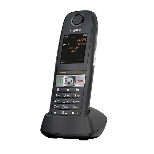 Gigaset E630HX - Schnurloses DECT-Telefon zum Anschluss an Basis - stossfest, staubresistent, wasserabweisend (IP65) - großes Display - Vibrationsalarm - Lautstärkeregelung - 3 Akustikprofile, schwarz