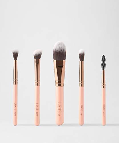 Luxie Travel Essential Brush Set - Rose Gold