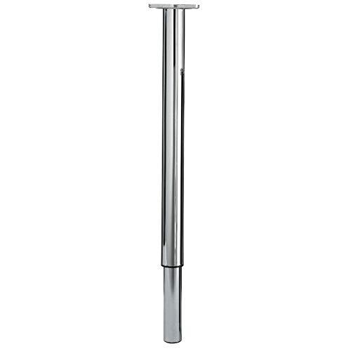 Gedotec Möbelfüße Edelstahl Tischbeine höhen-verstellbar +390 mm Tischfuß Metall - FORCE | Verstellfuß Höhe 770-1100 mm | Stützfuß mit Rund-Rohr-Ø 60 mm | 1 Stück - Teleskopfüße silber mit Schrauben