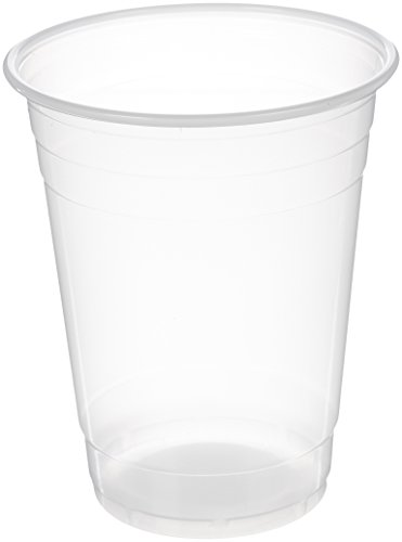 AmazonBasics Plastic Cups, Clear, 16 Ounce, Pack of 500