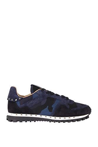 Valentino Luxury Fashion Garavani Herren RY2S0952NYMW22 Blau Wildleder Sneakers   Jahreszeit Permanent