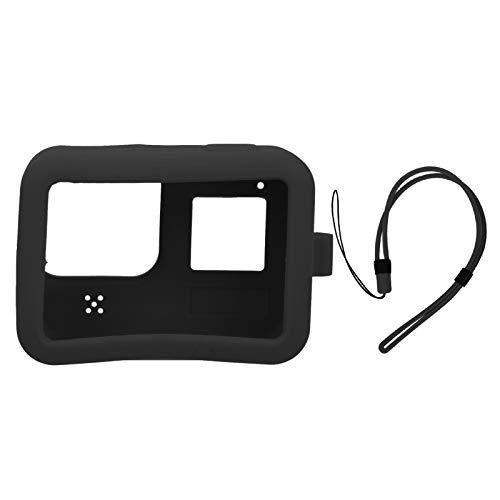 zhoul Suministros de protección de Funda Suave Protectora de Silicona para cámara para Gopro hero8 (Negro/Verde)(Negro)