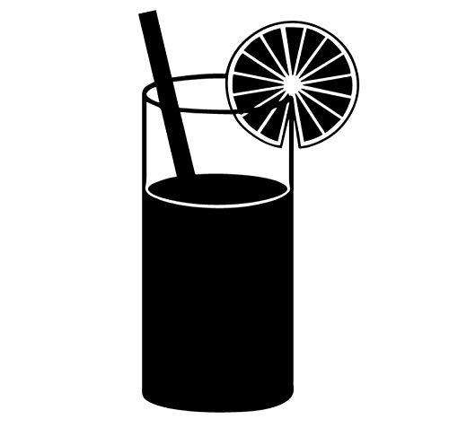 Muursticker, 43 x 78 cm, voor dranken, creatief design