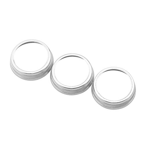 EnthusiasmX Car accessories Car Air Conditioner Knob Switch Button Trim Cover Ring Fit For Jeep Compass 2017 2018 2019 2020 for Automatic AC Accessories Motorcycle accessories (Color Name : Silver)