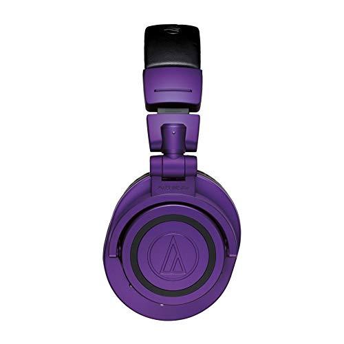 audio-technicaワイヤレスヘッドホンATH-M50xBTPBBluetooth5.0aptX・AAC対応限定カラーパープルブラック